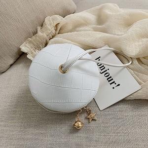 Image 3 - Fashion Circular PU Leather Handbag Small Round bag 2019 Circle Bags Small Purses and Handbags Brand Phone Bag Party Clutch