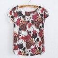 Harajuku kawaii t shirts mulheres 2017 Crânio verão tinta de Impressão 3d camiseta solta T-shirt Tees Tops camiseta Estilo de Rock do punk camiseta
