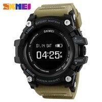 SKMEI 스마트 시계 심장 박동 스포츠 시계 블루투스 보수계 칼로리 최고 럭셔리 브랜드 디지털 시계 Relogio Masculino