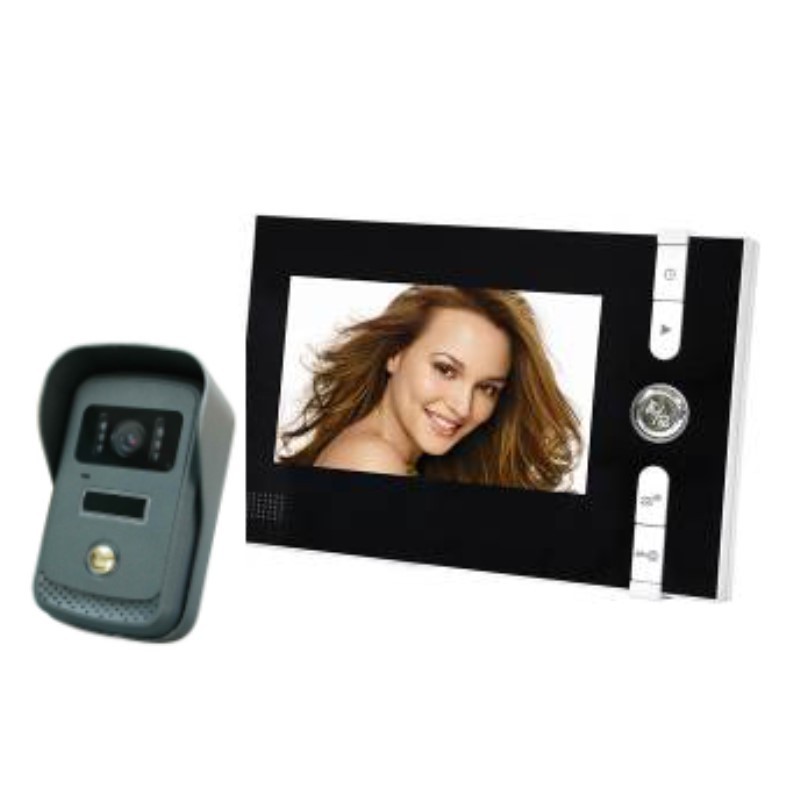 7 Inch LCD Monitor Wired Intercom Video Door Phone IR Night Vision