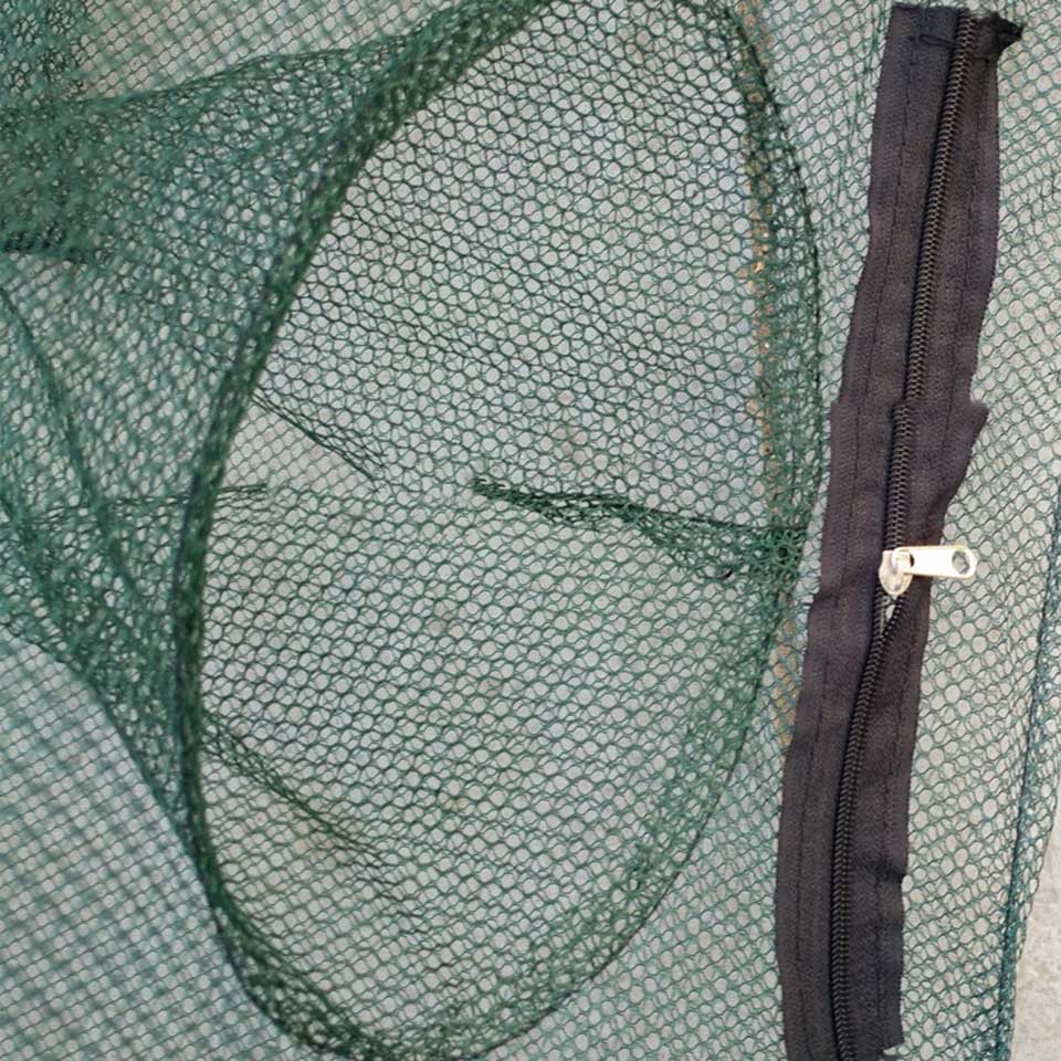 Image 3 - Fishing Net 4 16 Entrances Folded Portable Nylon Elasticity Shrimp Cage Foldable Crab Fish Trap-in Fishing Net from Sports & Entertainment