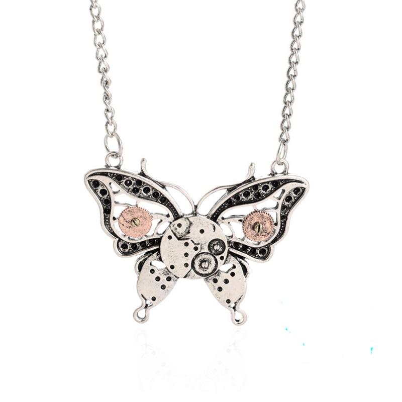 ISINYEE Fashion Crystal Key Heart Anker Hanger Beaded Chain Steampunk - Mode-sieraden - Foto 3