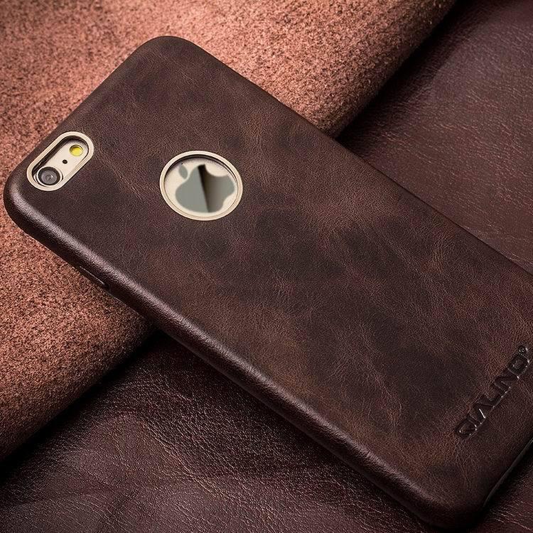 QIALINO Kulit Asli Kasus Telepon untuk iPhone 6 & 6 s Kulit Betis - Aksesori dan suku cadang ponsel - Foto 4