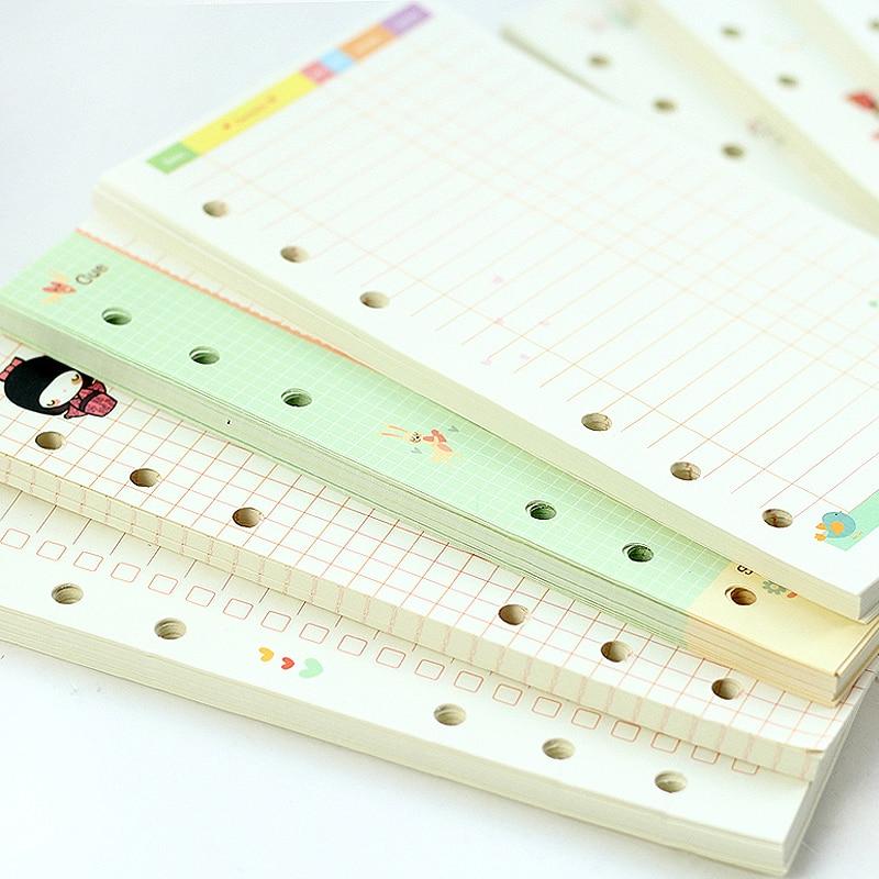Mercii Diary vullingen A5 A6 spiraal notebook vervangen papier core 6 - Notitieblokken en schrijfblokken bedrukken - Foto 2