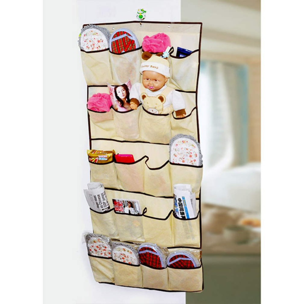 1Pc New Durable Space Over Door Cloth Shoe 20 Pockets Organizer ...
