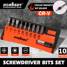 HORUSDY Precision Torx Screwdriver Bits Hex Socket Mini Magnetic Screwdriver Bit Set Electric Screwdriver Head Kit Holder Tool l shape mini dual head screwdriver bits key utility tool for routine g08 drop ship