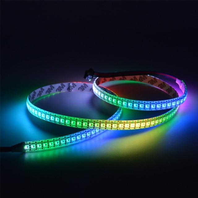big sale 7d19d 48b12 US $31.98 30% OFF|5V APA102C Flexible LED Strip Ribbon Tape SK982 144 LEDs  5050 RGB Individually Addressable Black White FPC Waterproof IP20/65/67-in  ...