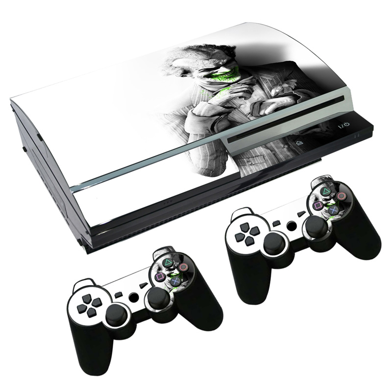 joker Skull Sticker For Sony PS3 Fat Console Video Games For Playstation 3 Wireless Controller Bones Skins Cover TN-P3-2107