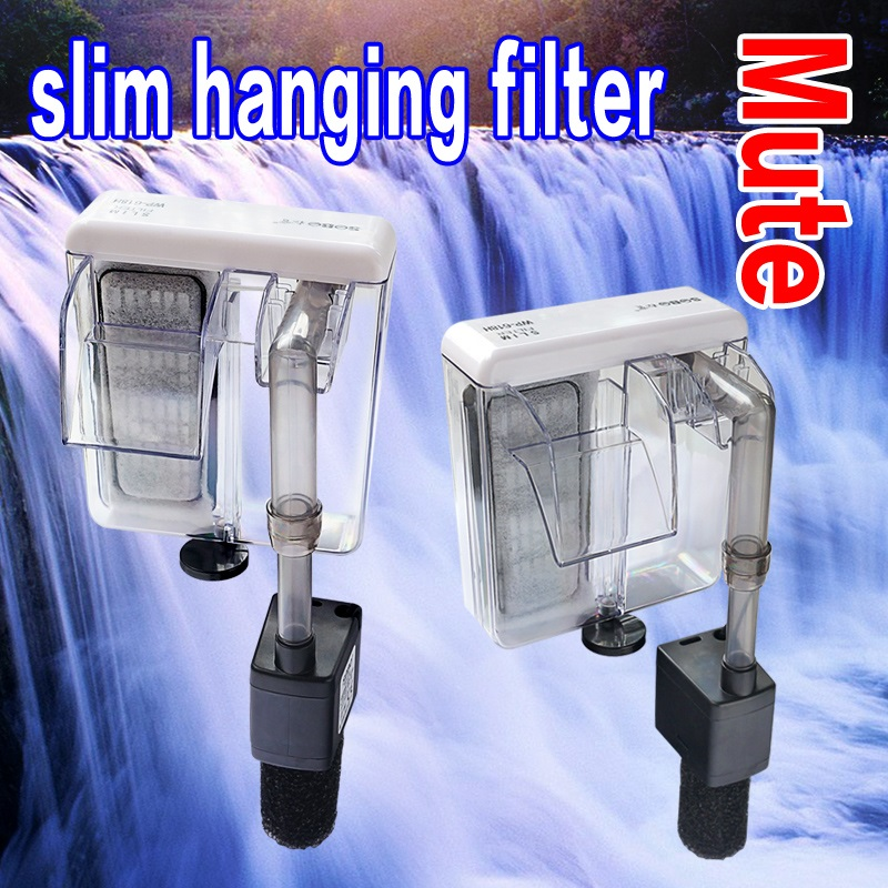 SOBO Fish Tank Ultra-thin Mute Small Waterfall Filter 3-in-1 Aquarium Wall Hanging External Filter Cultivate Bacteria Oxygenate