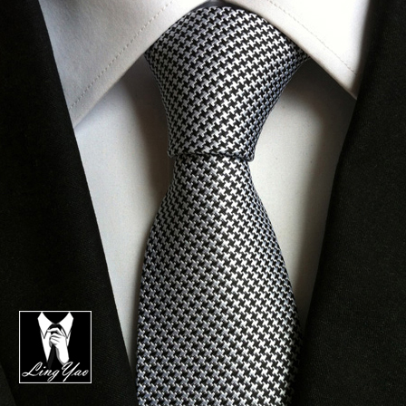 Top Brand New Fashion 8cm Design Ties Handmade Houndstooth Necktie Classic Jacquard Woven Gravatas For Adult