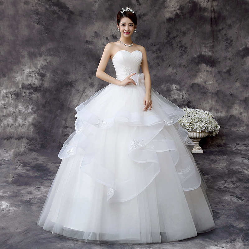 Vestidos de Noivas real photo Appliques Vintage White Wedding Dresses Bridal Wedding Dress elegant bowknot Wedding Gowns