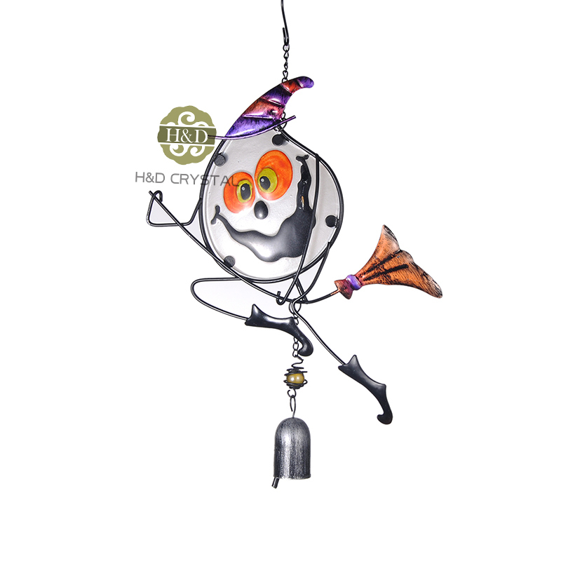 aliexpresscom buy white funny halloween magician metal one bell crafts suncatcher wind chimes hanging home decoration from reliable craft cycling bib