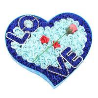Amour Gradient Creative Simulation Rose Savon Fleur Rose Rouge Parfumé Savon De Bain Rose Pétale Coeur Boîte #30