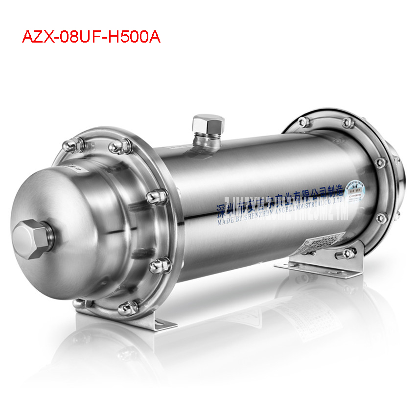 AZX-08UF-H500A Stainless Steel Ultrafiltration Water Purifier without electricity membrane water filter Drink Straight UF FilterAZX-08UF-H500A Stainless Steel Ultrafiltration Water Purifier without electricity membrane water filter Drink Straight UF Filter