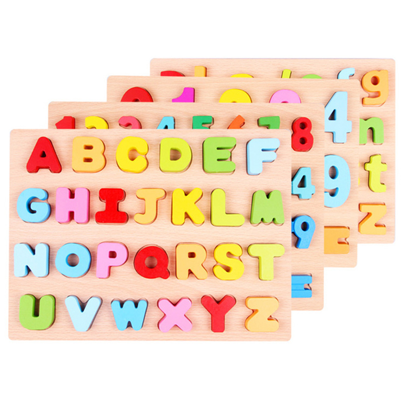 Activity & Gear Cysincos 1set Kids Educational Toys Wooden Childrens Puzzle Toys Creative Learning Alphabet Toys Montessori New Year Gifts