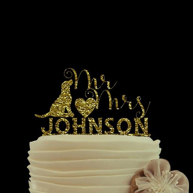 Exquisite Wedding Decoration Cake Topper Dog Lover Favors Wedding