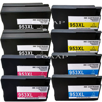 8pk mürekkep kartuşu hp için Uyumlu hp photosmart pro 7740 8740 8730 8710 8718 8719 Yazıcı (hp 953)