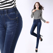Jeans Woman New Fashion Women Skinny High Waist Jeans Casual Denim Plus Size Full Length Denim Skinny Jeans Womens Elastic Belt