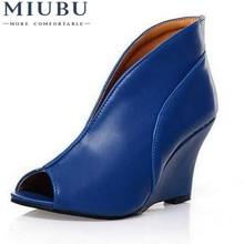 MIUBU Big Size Fashion High Heel Sandals Solid Open Toe Casual Wedge Dating/Dress\Women Shoes