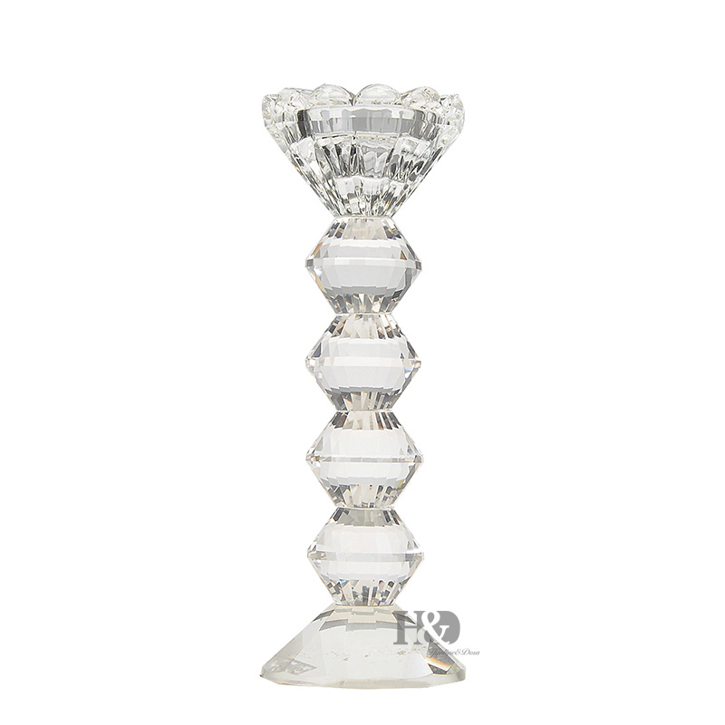 New Simple Fashion European Transparent Pillar Candle Holders Glass