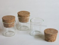 500pcs/lot 4ml Empty Glass Tube With Cork, Small Glass Container, Mini Corked Glass Tube