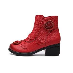 Image 2 - BEYARNE artı Size35 42NEW sonbahar kış kadın çizmeler yan fermuar kalın topuk çizmeler ayakkabı kadın, ayak bileği Mar çizmeler botas mujerE044