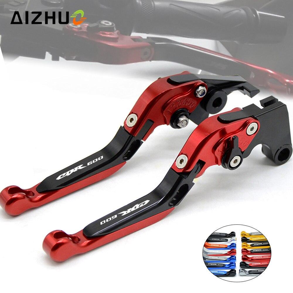 Levier de frein d'embrayage moto réglable extensible CNC leviers en aluminium pour Honda CBR600 CBR 600 F2 F3 F4 F4i 1991-2007 1991 93