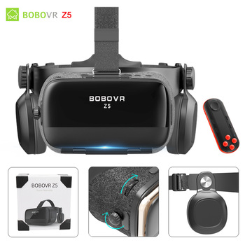 BOBOVR Z4 Update BOBO VR Z5 120 FOV 3D Cardboard Helmet Virtual Reality Glasses Headset Stereo for 4.7-6.2' Mobile Phone