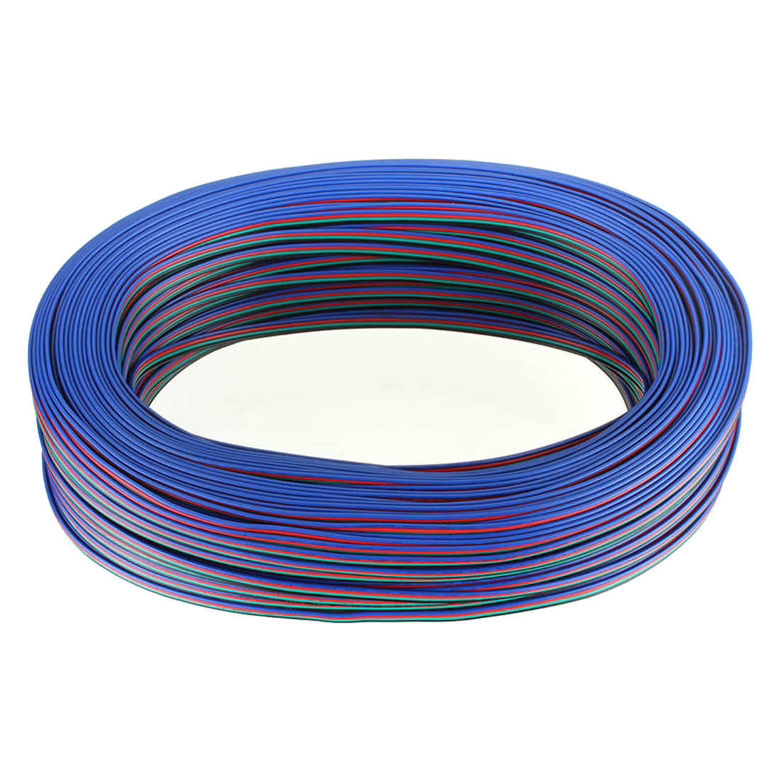 Detail Feedback Questions About 100m Fast Shipping 4 Pin 22awg Rgb 3528 5050 Led Light Strips Cable Wire Ws2801 Lpd8806 Strip Extension Cord