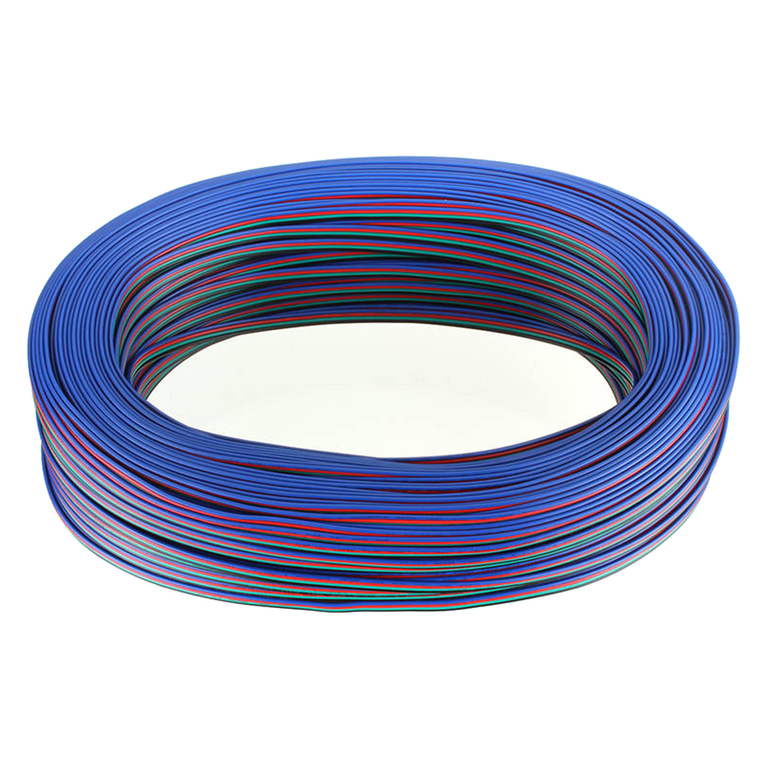 4 PIN RGB Extension 4 Wire Cable Cord 3528/5050 RGB LED Strip Light 100M Blue red LED RGB cable to signal transmission amplifier 10pcs 5 pin led strip wire connector for 12mm 5050 rgbw rgby ip20 non waterproof led strip to wire connection terminals