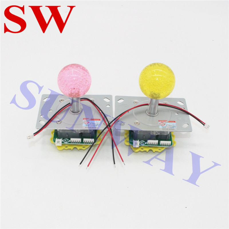 2 Teile/los Bunte Led Glitter Beleuchtet Beleuchtete Hs Joystick Arcade Stick Schöne 5 Farbe Blinkende Joystick Unterhaltungselektronik