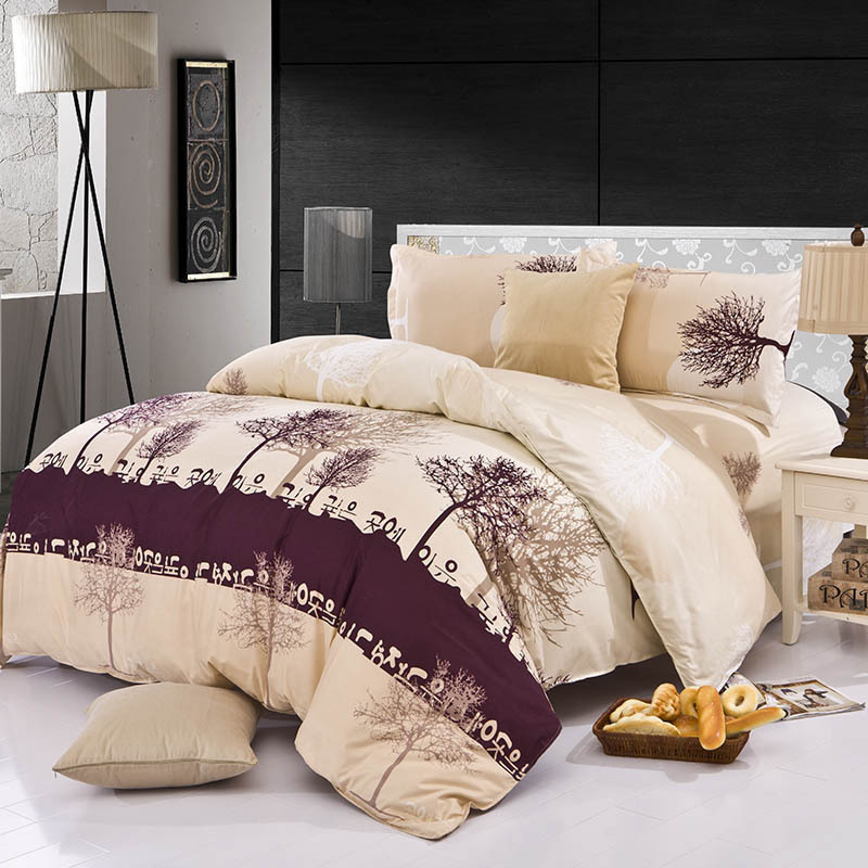 4pcs Bedding Set Family Cotton Bedding Set Bed Sheets