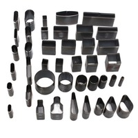 39PCS Shape Leather Craft Set Hole Hollow Punch Cutter Tool Handmade Metal Mold