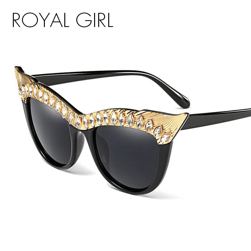 ROYAL FILLE Cat eye lunettes de soleil Vintage Soleil lunettes nuances  Marque sunnies Nouvelle Mode Femmes Déclaration ss630 8cc0cc90d0bd