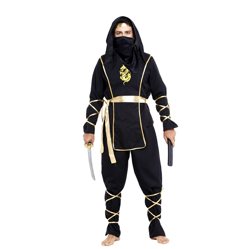 Japanese warrior ninja costume Men Halloween Naruto Cosplay Carnival Purim Stage performance Masquerade Nightclub Party dress