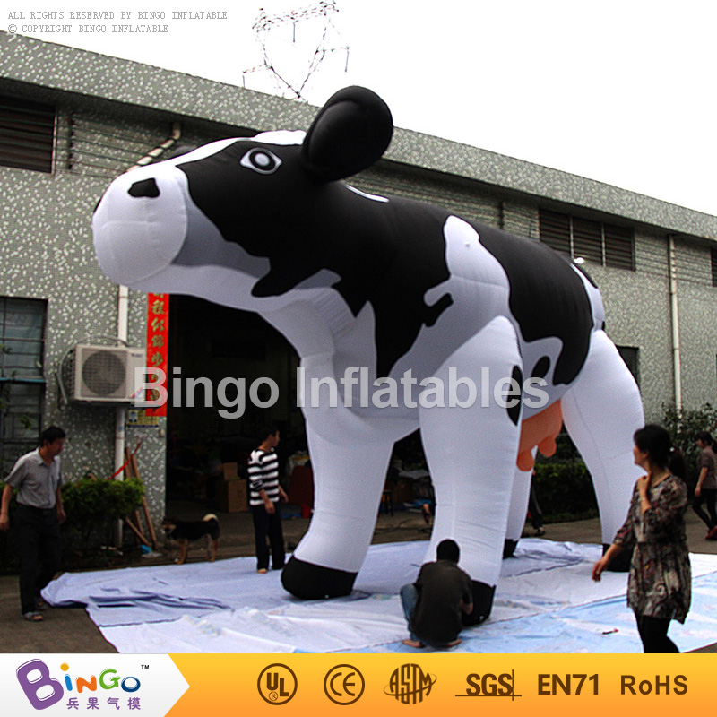 Free Shipping 6M Inflatable Cow balloon Inflatable Dairy Cattle Inflatable Milk Cow for advertising inflatable toy inflatable cube helium advertising balloon with 6 sides digital printing logo for advertisement