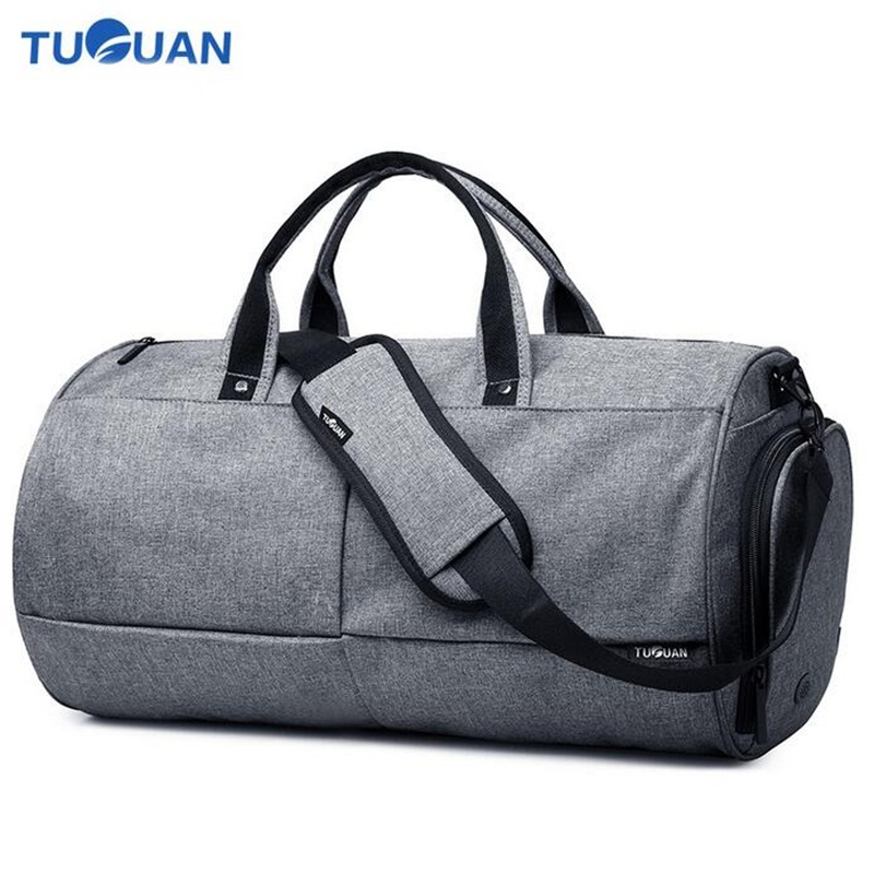 TUGUAN Men Travel Handbag Weekend Bag Large Capacity Waterproof Canvas Male Shoulder Crossbody Bags Duffle Bags Bolso Hombre fashion casual large capacity handbag for men shoulder bags male waterproof oxford fabric bussiness bag mochila high quality