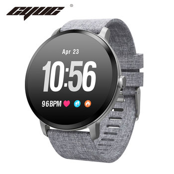 CYUC V11 Smart watch IP67 waterproof Tempered glass Activity Fitness tracker Heart rate monitor BRIM Men women smartwatch new garmin watch 2019