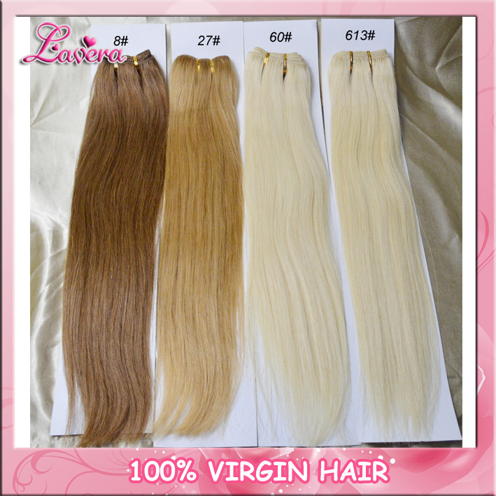 High Quality Brazilian Human Hair Extension Color 4 8 27 613 Silky