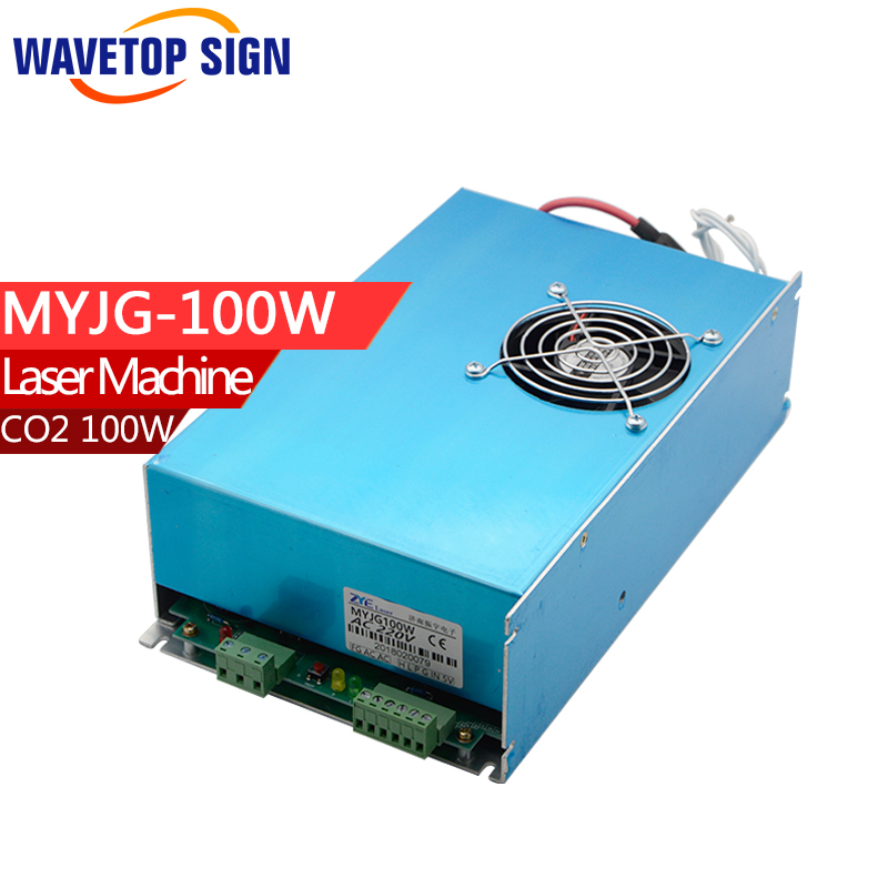 100W CO2 Laser Power Supply for CO2 Laser Engraving Cutting Machine MYJG-100 economic leetro mpc 6525a 6535 motion controller for co2 laser cutting machine upgrade of 6515