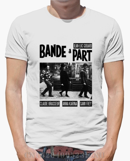 brand clothing Low price men t shirt BANDE A PART - JEAN LUC GODARD Short sleeves Character Knitted High Quality
