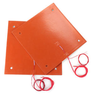 Image 1 - CR 10 CR 10S 310*310MM Silicone Heater Pad 220V 750W silicone Heatbed 3M adhesive for cr10 cr10s 3D build plate heating parts