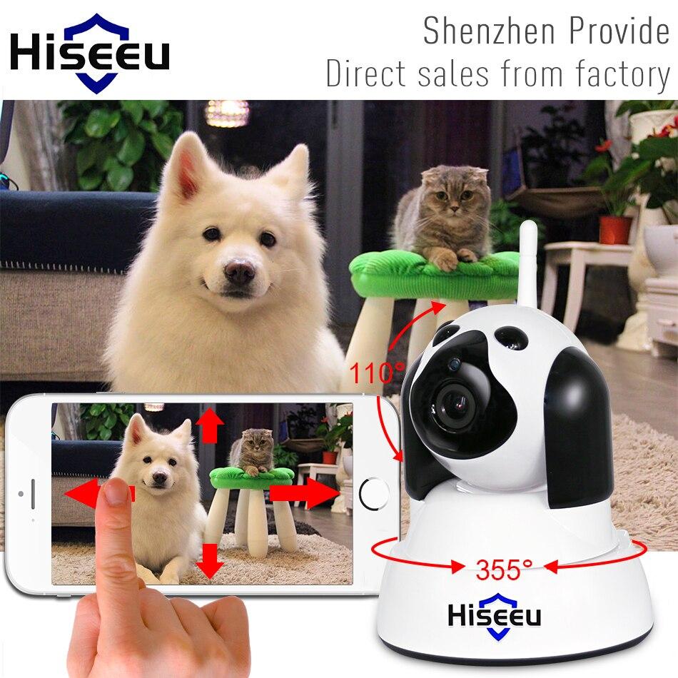 Hiseeu cámara IP de seguridad para el hogar Wi-Fi inalámbrica inteligente mascota perro wifi cámara de video vigilancia P 720 p noche CCTV interior Bebé Monitor