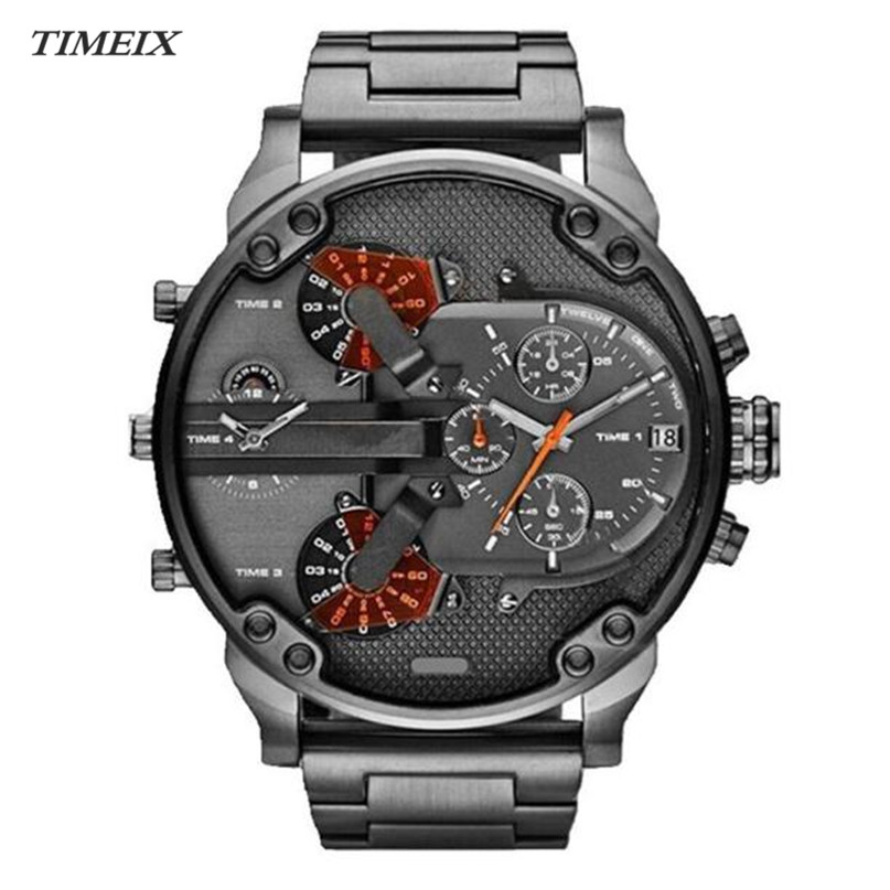 Men's Quartz Watch Fashion Luxury Stainless Steel Sport Watch Analog Quartz Men Watch Wristwatch Clock Watches,Feb 22*50 rosivga luxury quartz watch with analog indicate steel watchband for men