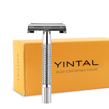 Razors Copper Butterfly Double-Edge Travel-Shaver Classic Chrome 10-Blades Manual Portable
