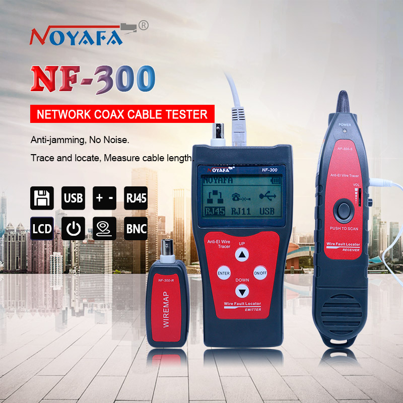 NF_300 L Lan Tester RJ45 LCD Cable Tester Network Monitoring Wire Tracker Without Noise Interference NOFAYA NF-300