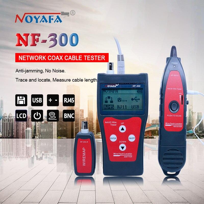 NF_300 L Lan Tester RJ45 LCD Kabel Tester Netzwerk überwachung Draht Tracker Ohne Lärm Störungen NOFAYA NF-300