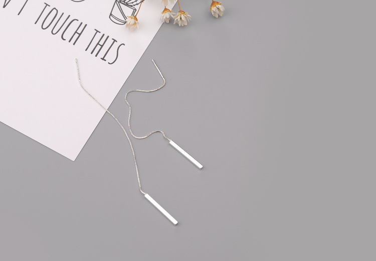 Women's 925 Sterling Silver Tassel Earrings