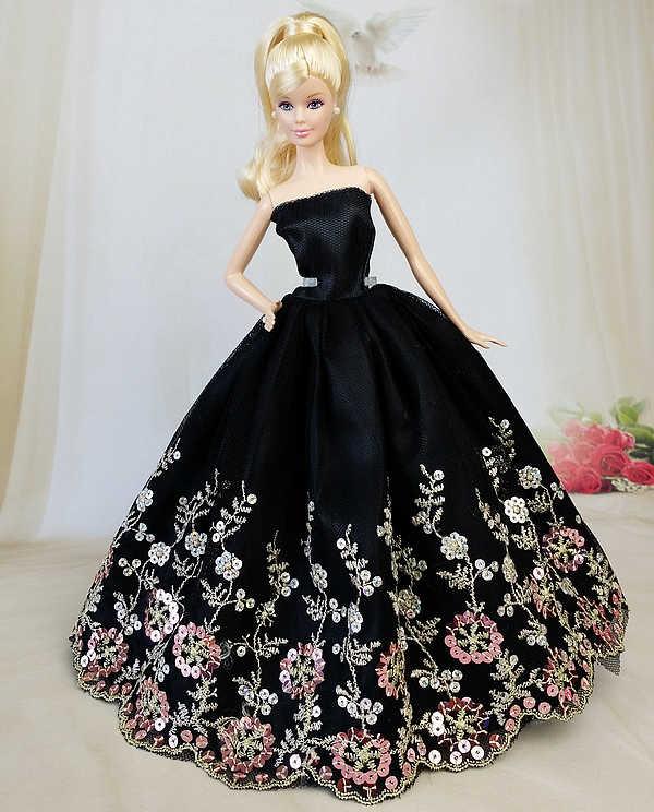 NK قطعة واحدة مزيج نمط الأميرة الزفاف فستان الدانتيل الكامل نوبل حفلة ثوب ل دمية باربي تصميم الأزياء الزي أفضل هدية JJ