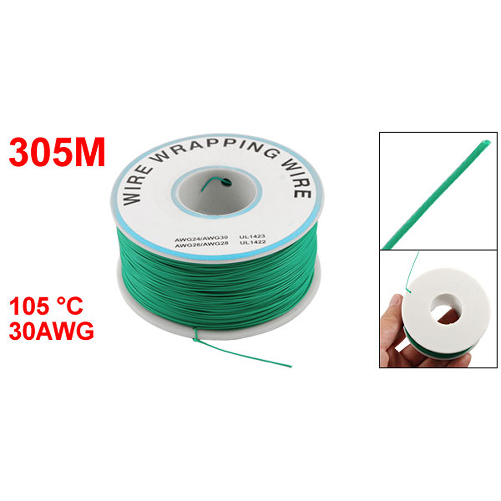 FDDT PCB Solder Green Flexible 0.25mm Dia Copper Wire 30AWG-in Wires ...